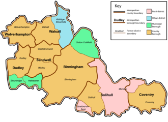 West Midlands (county) - Image: West Midlands County