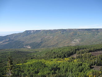 Grand Mesa National Forest - Image: West edge of Grand Mesa, Colorado