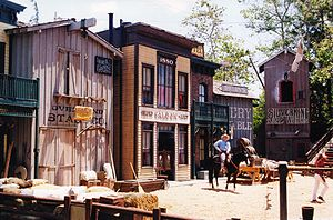 The Wild Wild Wild West Stunt Show - Set for the show in Universal Studios Florida.