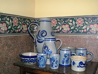 Westerwald - Typical everyday Westerwald pottery