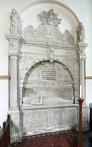 Church of St Candida and Holy Cross - The effigial monument to Sir John Jefferey