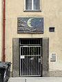 Wien-Penzing - Gemeindebau Cumberlandstraße 20 - Mosaik Mond und Sterne - Konrad Calo 1955-56.jpg