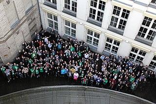 Ομαδική φωτογραφία συμμετέχοντων στο WikidataCon