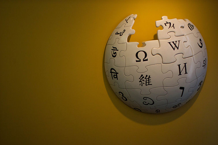 Wikipedia globe in Wikimedia Foundation Office