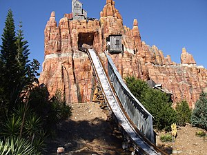 Wild West Falls Adventure Ride - The final drop of the Wild West Falls Adventure Ride.