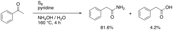 The Willgerodt rearrangement using acetophenone
