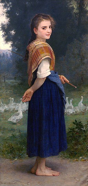 The Goose Girl (Bouguereau) - Image: William Adolphe Bouguereau (1825 1905) The Goose Girl (1891)