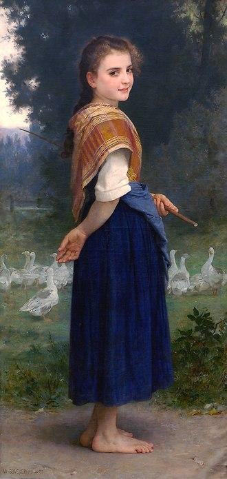 The Goose Girl (Bouguereau) - Image: William Adolphe Bouguereau (1825 1905) The Goose Girl (1891)