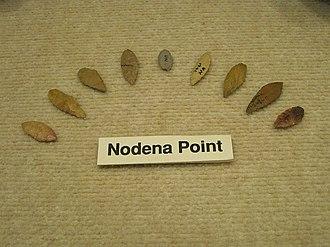 Nodena Phase - Image: Wilson AR Hampson Museum State Park 34 Nodena points