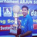 With the wining trophy of asia cup for physically challenged cricket teams.jpg