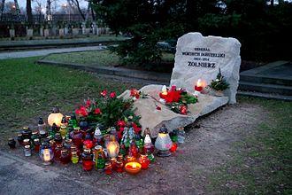 Wojciech Jaruzelski - Jaruzelski's grave at Powązki Military Cemetery in Warsaw