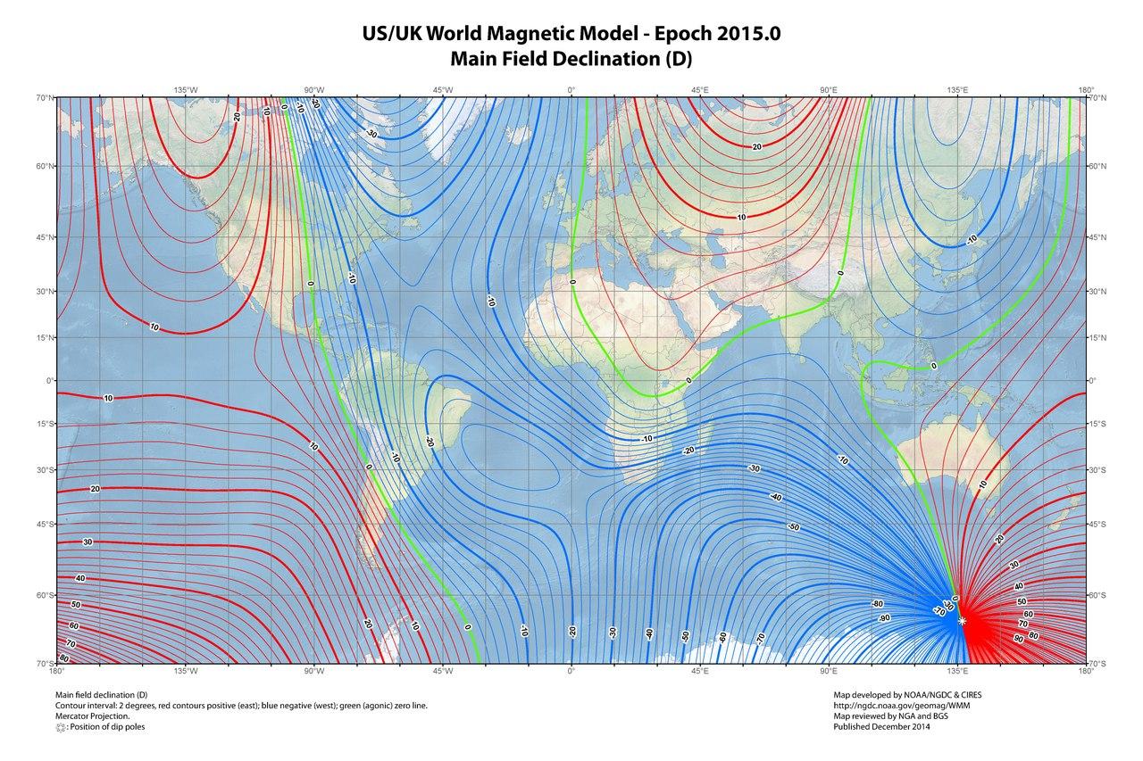 Magnetic Declination For Salt Spring Island