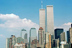 English: Twin Towers and World Trade Center NY...