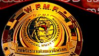 Champion belt of WPMF