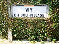 Wy-dit-Joli-Village (95), plaque Michelin de 1932, rue Saint-Romain.jpg