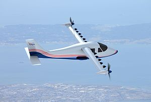 NASA X-57 Maxwell - Artist concept of X-57 in flight