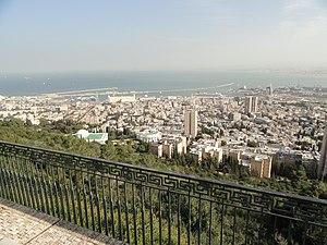Merkaz HaCarmel - View of the city of Haifa from Louis Promenade in Merkaz HaCarmel
