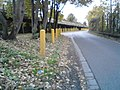 Yellow Poles on Gas Road - geograph.org.uk - 1016659.jpg