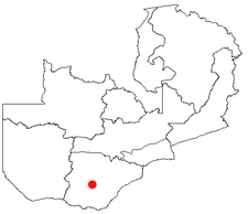 Location of Kalomo in Zambia