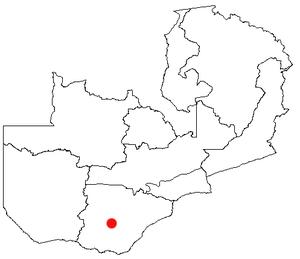Kalomo - Location of Kalomo in Zambia