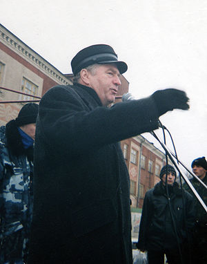 Vladimir Zhirinovsky's donkey video - Zhirinovsky speaking publicly in Rtishchevo in 1999