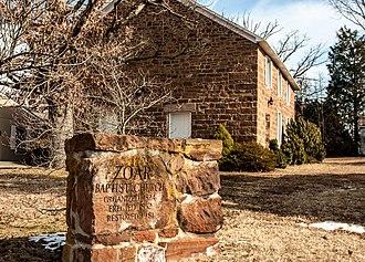 Bristersburg Historic District - Zoar Baptist Church at the intersection of VA 806 and VA 616