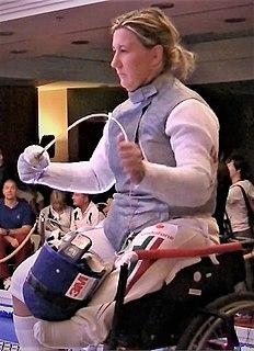 Zsuzsanna Krajnyák Hungarian wheelchair fencer