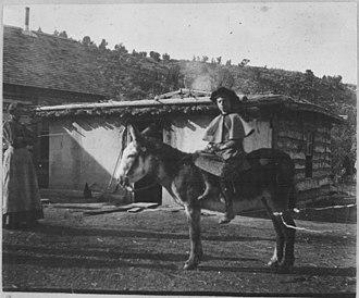 Battlement Mesa Forest Reserve - Rancher's daughter heads off to school, Battlement Mesa Reserve, c. 1898