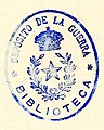 """""""BIBLIOTECA"""" """"DEPOSITO DE LA GUERRA"""" library stamp, from- Uniform of the army of the United States, 1882 (page 4 crop).jpg"""