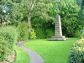 "Great Ayton - Image: ""Capt. Cook's Cottage"" Obelisk geograph.org.uk 61648"
