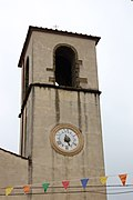 """Italic 6 hour"" clock on the Saint Silvester church in Sutri, Italy.jpg"