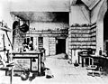 'Faraday at work in his laboratory at the Royal Institution'. Wellcome M0004586.jpg