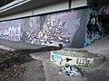 'Lahntalradweg-Graffiti-Gallery' with tag 'New York', river bank Lahn in Marburg 2017-01-17.jpg