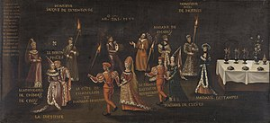 Feast of the Pheasant - Anonymous sixteenth-century painting showing participants of the Feast of the Pheasant