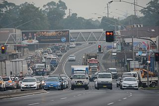 Pennant Hills Road highway in Sydney