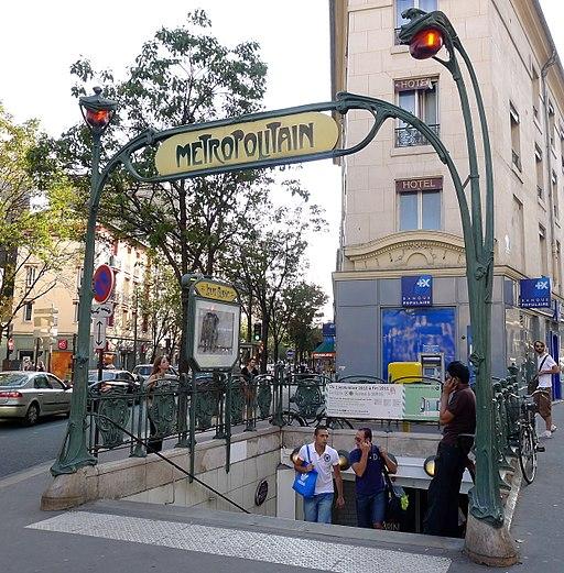 Édicule Guimard de la station Louis Blanc, 75010 Paris
