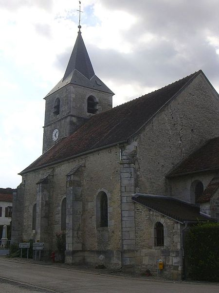 Saint-Brice's church in Saulcy (Aube, Champagne-Ardenne, France).
