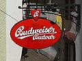 Český Krumlov - Budweiser Schild.jpg