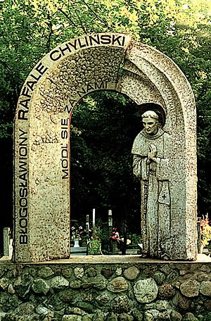 Melchor Chyliński - Statue.