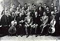 Ангел Букорещлиев, Антон Безеншек и хористи от Пловдивското певческо дружество.jpg