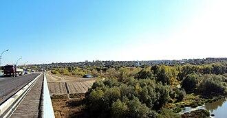 Serafimovich (town) - View of Serafimovich from the bridge across the Don River