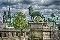 Гослар, скульптура брауншвайгского льва перед дворцом.jpg