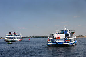 Motor ship - Cruise ships on the Volga River, Russia.