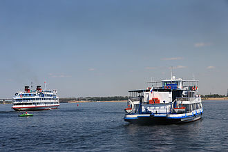 Volga River - Cruise ships on the Volga.