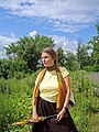 Оксана Шашуто возле Ново-Никольского собора в Можайске.jpg