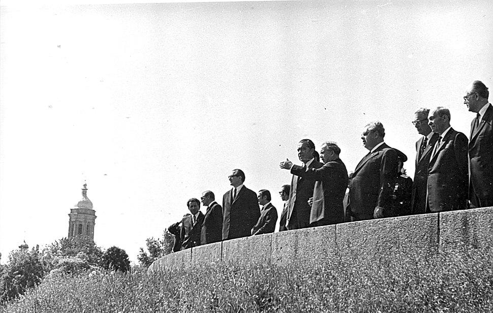 Президент США Ричард Никсон в 1972 году в Киеве