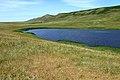 Пруд у деревни Ковыловка. Вид в северо-восточном направлении. За прудом гора Верблюжка - panoramio.jpg
