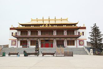 Religion in Inner Mongolia - Taulayitu-gegen Yellow Buddhist temple, in the Hinggan League.
