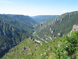 The Point Sublime of the Gorges du Tarn, located on the territory of the commune