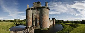 Manor of Dyrham - Caerlaverock Castle, Dumfries, Scotland. Sir William Russell was part of the army at its siege in 1300
